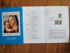 CHRISTMAS MADONNA & CHILD ANTONELLO 1990 FIRST DAY CEREMONY PROGRAM