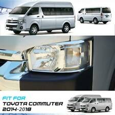 Chrome Front Headlight Cover Lamp Trim For Toyota Hiace Commuter 2005-2010