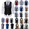 Men's Dress Suit Vest Formal Business Wedding Tuxedo Waistcoat Slim Fit Coat Top