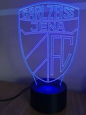 FC Carl Zeiss Jena LED Fußball Logo⚽️Farbwechsel Nachtlicht