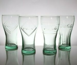 4x Coca Cola McDonald's Glasses 125th anniversary Dates 1900 1916 1955 1961