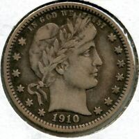 1910 Barber Silver Quarter - Philadelphia Mint - Toning BP248