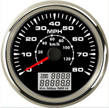 85mm Car GPS Speedometer Gauge 8Colors Backlight 0-80MPH LCD Speed Odometer KM/H