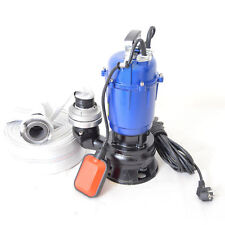 Fäkalienpumpe Tauchpumpe Schmutzwasserpumpe 0,75kW 350l/min mit 20m C-Schlauch