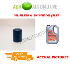 PETROL OIL FILTER + FS 5W40 ENGINE OIL FOR ROVER 416 1.6 122 BHP 1990-95