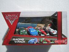 DISNEY PIXAR CARS 2 RACING 4 PACK SHU TODOROKI, BERNOULLI, CAROULE, GEARSLEY