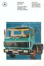 Mercedes 2-assige trekkers 12-17 ton Prospekt NL 8/88 1988 Brochure Lkw truck