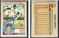 Steve Renko Signed 1983 Topps #236 Card California Angels Auto Autograph