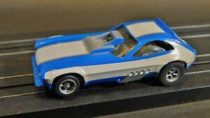 Vintage Aurora AFX Pinto Dragster Funny Blue White Slot Car