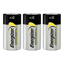 3x Energizer Industrial C Size Cell Alkaline Batteries MN1400 LR14 1.5v BABY