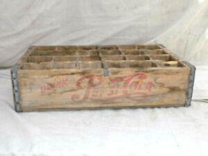 Pepsi Cola Wood Crate Case w/ Dividers 1950's Vintage - NICE!!