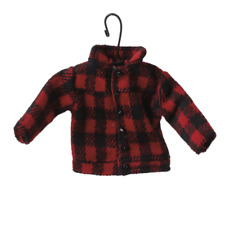 RED PLAID COAT Fabric Christmas Ornament, by Midwest CBK