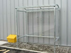 Smoking Shelter Galvanised Steel 4 Person / Bus Stop