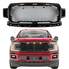 New Black Grill Grile LED Honeycomb Raptor Style For F150 2018-2019 US