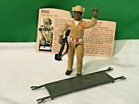 Vintage GI Joe Doc 1983 100% COMPLETE WITH RED FILE CARD action figure ARAH