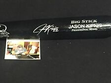Jason Kipnis Cleveland Indians Autographed Signed Pro Model Bat PIC Black 1