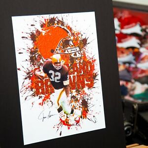 Cleveland Browns - Jim Brown #32 - Contemporary Art