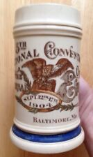 1904 FRATERNAL ORDER OF EAGLES BEER STEIN, PAUL HOFFMANN SALOON, BALTIMORE, MD