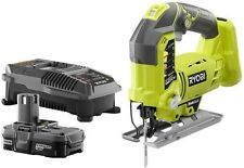 Cordless Portable Variable Speed Cutting Ryobi Jigsaw Kit ONE+ 18 Volt Charger