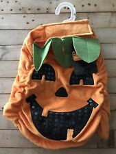 Halloween Fashion Dog Costume Orange Pumpkin Size Medium