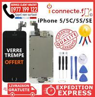 VITRE TACTILE ECRAN LCD COMPLET IPHONE 5S 5SE 5 SE BLANC NOIR SUR CHÂSSIS