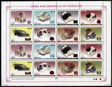 Pakistan 2014 Mineralien Minerals Gesteine Edelsteine Gems Kleinbogen MNH