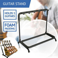5 Guiter Stand Rack Foldable Guitars Hanger Hook Bass Organizer Display Case