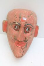 1900's Vintage Rare Old Hand Made Wooden Folk Tribal Wall Hanging Mask NH2204
