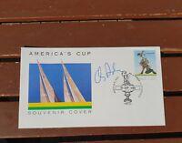 1987 AMERICAS CUP PERTH KIWI MAGIC  SIGNED SKIPPER CHRIS DICKSON