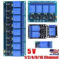 5V 1/2/4/8/16 Channel Relay Board Module Optocoupler LED for Arduino PiC ARM AVR