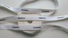 Authentic CHANEL white/black gift wrap ribbon~ 10mX15mm