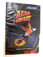 ****Aero The Acrobat Super Nintendo SNES Instruction Booklet Manual Book Only***