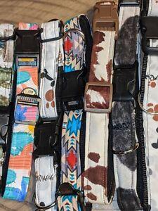 Adjustable dog collars choose size and color xs-large custom dog collar
