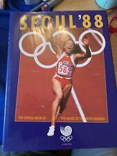 Very Rare Seoul Olympics 1988 Commemorative Book South Korea Hardback Colour