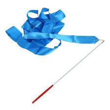 Gym Dance Ribbon Gymnastics Streamer Rod Party Chinese New Year - Blue. F8U5