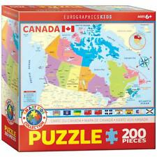 EuroGraphics Map of Canada Puzzle Jigsaw Puzzle (200-Piece)