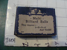 vintage trick/gag/ joke:1950's/60's in box MULTI BILLIARD BALLS no instructions