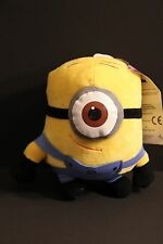 "ONE 6 Inch (6"") 3D EYE Minion Soft Plush Stuffed Toy Doll, DESPICABLE ME STEWART"
