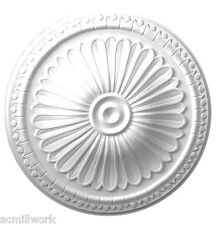 Ceiling Medallion 15 inch Primed White D513 round classic canopy dome white big