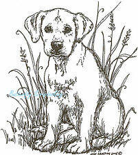 Dog Labrador Puppy Jade Wood Mounted Rubber Stamp Northwoods New P1742