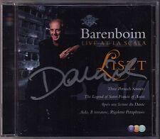 Barenboim SIGNED Liszt Live at La Scala 2007 CD divi sonetti del Petrarca verdi