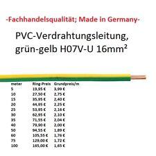 H07V-U / R 16 mm² Aderleitung Erdungskabel grün / gelb     Mehradrig!!