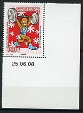 STAMP / TIMBRE POLYNESIE N° 841 ** SPORT / HALTEROPHILIE / COIN DATE