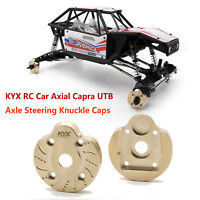 Para KYX RC Car Axial Capra UTB Axle Steering Knuckle Cap Brass Axle Cover Funda