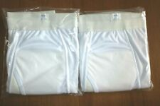 Lot of 2 Haband InstaDry Mens Underwear Briefs Solid White Size 4X Style 819 NWT