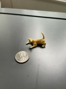 Dollhouse Miniatures Animals Playing Orange Tabby Cat 1:12 Scale
