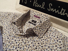 "PAUL SMITH Mens Shirt 🌍 Size 15"" (CHEST 40"") 🌎 RRP £95+📮 FLORAL LIBERTY STYLE"