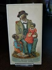 Vintage 1880s Trade Card - Black Americana Lowell Mass Ayres Cathartic Pills