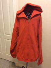Mens Hanes Premium Full Zip Soft Light Fleece Jacket Ecosmart Soft Hooded sz XXL