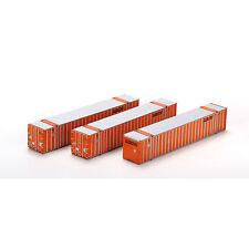 Athearn 72546 H0 53' Stoughton Container, Schneider SNLU #2 (3-Pack) NEU OVP